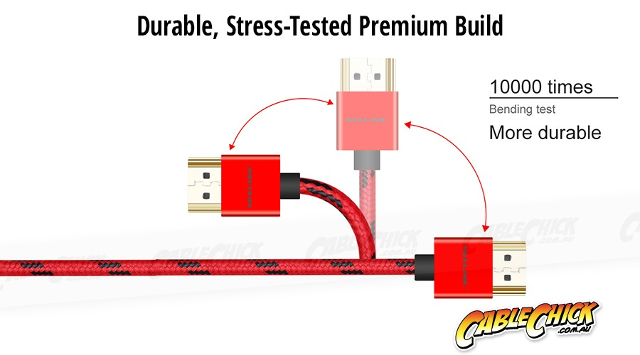 3m Voxlink Braided Ultra-Thin HDMI Cable (High-Speed HDMI v2.0a with Ethernet) (Photo )