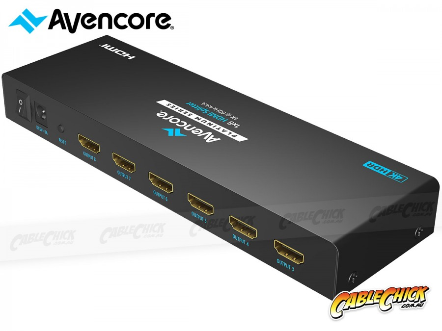 Avencore Platinum 8-Way Ultra HD 4K/60Hz HDMI Splitter (1x2 HDMI 2.0 Splitter) (Photo )