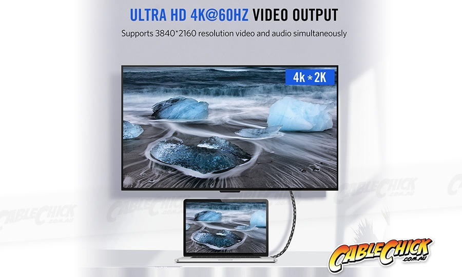 2m Premium Aluminium USB-C Fast-Charging Cable (USB 3.1 Gen2 - 10Gbps, 100W/5A, 4K/60Hz) (Photo )