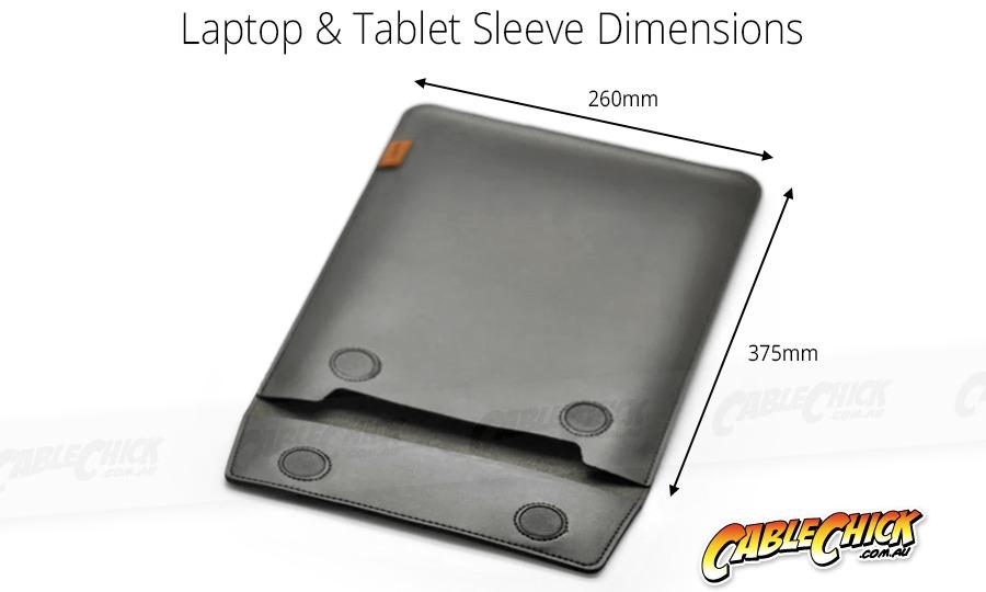 "Universal 15"" Laptop & Tablet Sleeve (Faux-Leather + Mircofibre Lining) (Photo )"