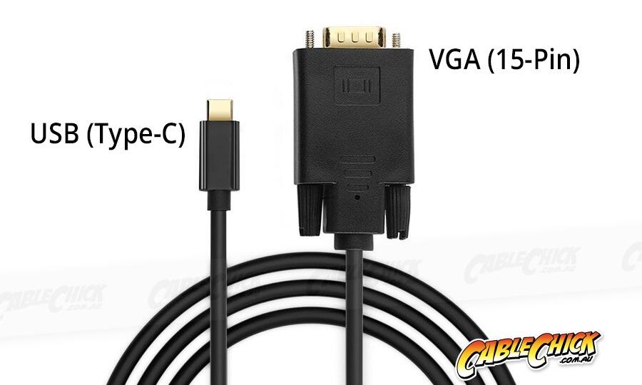 1.8m USB Type-C to VGA Cable (1080p/60Hz) (Photo )