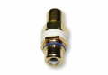 Single RCA Wall Plate Coupler, Blue Indicator (Gold Plated) (Thumbnail )