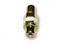 Single RCA Wall Plate Coupler, Green Indicator (Gold Plated) (Thumbnail )