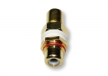 Single RCA Wall Plate Coupler, Red Indicator (Gold Plated) (Thumbnail )
