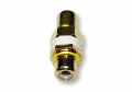 Single RCA Wall Plate Coupler, Yellow Indicator (Gold Plated) (Thumbnail )