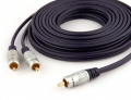 Pro Series 3m 1 RCA to 2 RCA Subwoofer Y-Cable (Thumbnail )