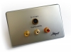 Amped Slimline S-Video and 3x RCA Composite + L & R Audio (Brushed Aluminium Wall Plate) (Thumbnail )