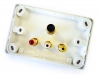 Amped Classic S-Video and 3x RCA Composite + L & R Audio (White Wall Plate) (Thumbnail )