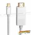 1m Mini-DisplayPort to HDMI Cable (Male to Male) - Thunderbolt Socket Compatible (Thumbnail )
