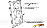 2x Cat6 Wall Plate (2 x RJ45 Female) (Thumbnail )