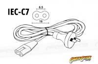 0.5m IEC C7 Power Cable (IEC-C7 Appliance Power Cord) (Thumbnail )