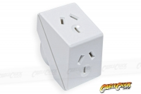 Australian Power Socket Triangle Double Adapter (Thumbnail )