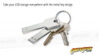 Metal Key Design 16GB USB Drive (USB 2.0) (Thumbnail )