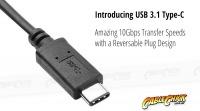 10cm USB-C OTG Cable (USB 2.0 Interface - Black) (Thumbnail )