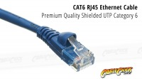 3m CAT6 RJ45 Ethernet Cable (Blue) (Thumbnail )