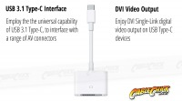 15cm USB 3.1 Type-C to DVI Cable Adapter (Thumbnail )