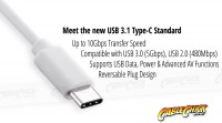 15cm USB 3.1 Type-C to VGA Cable Adapter (Thumbnail )