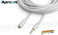 1m Avencore Crystal Series 3.5mm Stereo Audio Extension Cable (Thumbnail )