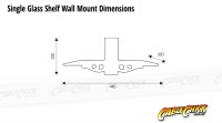 Single Wall Mounted Glass Shelf (15Kg) (Thumbnail )