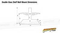 Double Wall Mounted Glass Shelf (15Kg) (Thumbnail )
