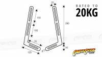 Universal Soundbar Wall Mounting Bracket (Mounts to TV) (Thumbnail )