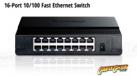 16-Port 10/100 Ethernet Switch (PC Network Switch) (Thumbnail )