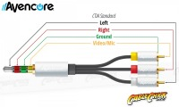 50cm Avencore Crystal Series 4-Pole TRRS 3.5mm to 3RCA Composite AV Cable (Thumbnail )