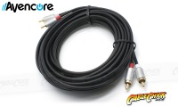 75cm Avencore Crystal Series 2RCA Stereo Audio Cable (Thumbnail )