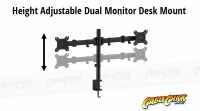 Dual Screen Desk Mount Bracket (2x 8Kg) (Thumbnail )