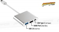 3-Port USB 3.1 Type-C to HDMI + USB Type-A/C Hub & Video Adapter (Thumbnail )