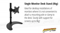 Single Monitor Desk Stand (8kg) (Thumbnail )