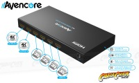 Avencore HDMI 4x2 True Matrix Switch & Splitter with Remote (Supports 3D+1080p@60Hz) (Thumbnail )