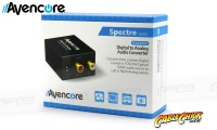 Avencore Digital to Analog Audio Converter (TOSLINK & Digital Coaxial to Stereo Audio) (Thumbnail )