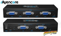 Avencore Powered 4-Way VGA Splitter with Audio (500MHz) (Thumbnail )