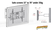 Premium Universal TV Wall Mount Bracket with Extendable Dual Pivot Arms & Tilt (35kg) (Thumbnail )