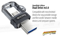 64GB SanDisk Ultra Dual USB 3.0 Drive with USB Type-A & Micro USB Interfaces (Thumbnail )
