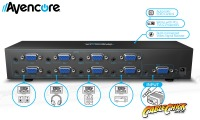 Avencore Powered 8-Way VGA Splitter with Audio (500MHz) (Thumbnail )