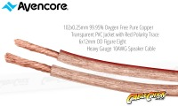 Avencore 15m Platinum Series 99.9% OFC Super Heavy Gauge 10AWG Speaker Cable (Thumbnail )