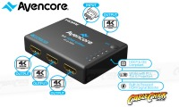 Avencore Halon Series Ultra HD 4K Powered 4-Way HDMI Splitter & Extender (Thumbnail )