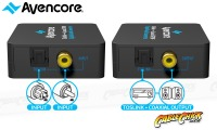 Avencore Digital Audio Converter: Bi-Direction TOSLINK to Digital Coaxial (Thumbnail )