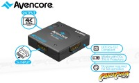 Avencore Halon Series 3-Way Compact Passive HDMI v1.4 Switcher (UHD 4K @ 30Hz) (Thumbnail )