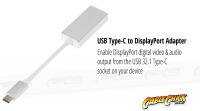15cm USB 3.1 Type-C to DisplayPort Cable Adapter (Thumbnail )