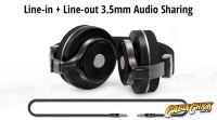 Bluedio T3 Bluetooth 4.1 Wireless Headphones with 3.5mm Audio Sharing (Thumbnail )