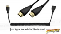 2m Coiled HDMI Cable (Effective length from 50-110cm) (Thumbnail )