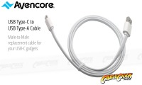 Avencore 0.5m SuperSpeed USB Type-C to Type-A Cable (White) (Thumbnail )
