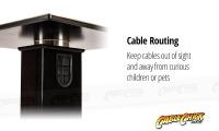 Heavy Duty 730mm Black Bookshelf Speaker Stands (Set of 2) (Thumbnail )