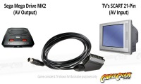 Sega Mega Drive MK2 to RGB SCART AV Cable (Retro Gaming Cable) (Thumbnail )