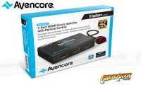 Avencore Halon Series 3-Port HDMI Switch with Remote & IR Receiver (1080p 3D + UHD/30Hz) (Thumbnail )