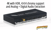 High-End 4-Port Ultra HD 4K/60Hz HDMI Switch & Audio Extractor (4x1 HDMI 2.0 Switch) (Thumbnail )