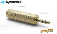 Avencore 6.5mm (Female) to 3.5mm (Male) Stereo Audio Adaptor (Thumbnail )